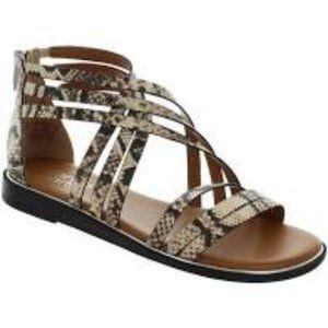 New Franco Sarto Gaetana Snake Prt Strappy Sandals